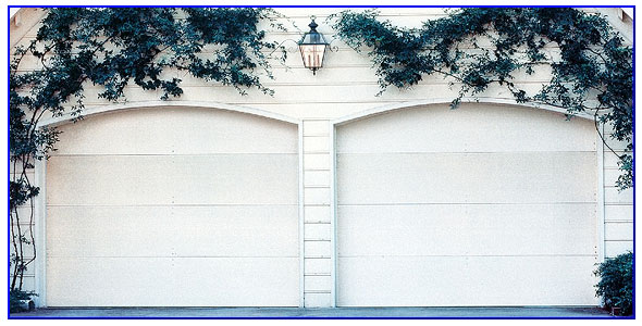 wood panel garage doors in Pittsburg